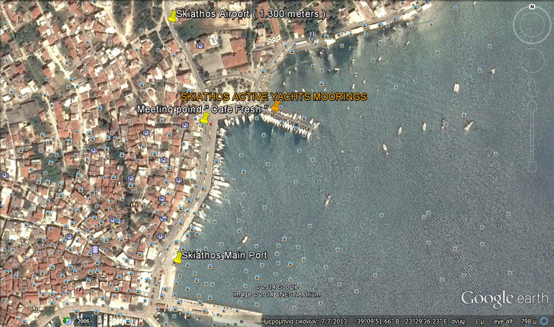 Active Yachts base in Skiathos